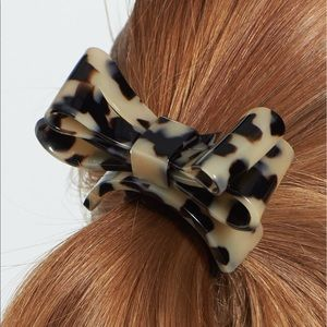 Large Bow Hair clip Bow Barrette Tortoise Bow